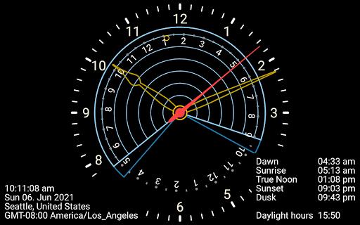 Sunclock - Sunrise, Sunset, Moon screenshot 16