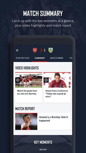 Arsenal Official App 8 تصوير الشاشة