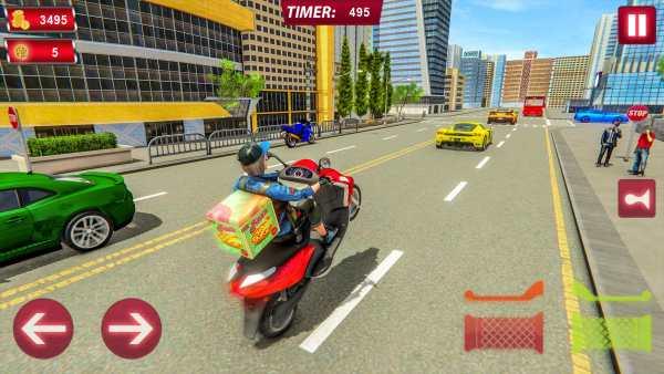 Scooty Bike Pizza Delivery Girl Simulator screenshot 4