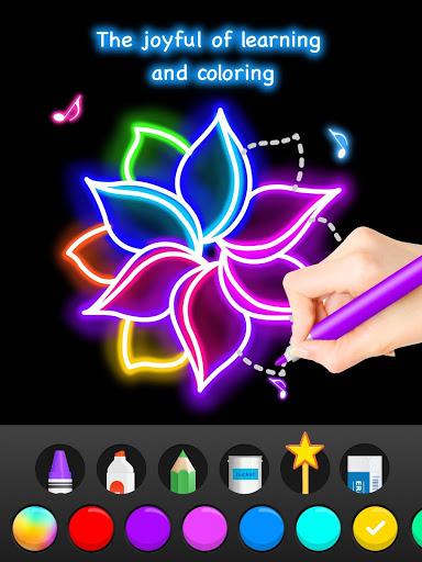 Learn To Draw Glow Flower скриншот 14