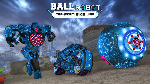 Ball Robot Transform Bike War : Robot Games screenshot 1