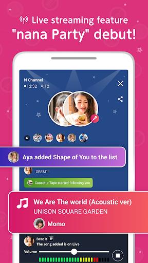 غنّي وسجّل وشارك! مع nana 5 تصوير الشاشة