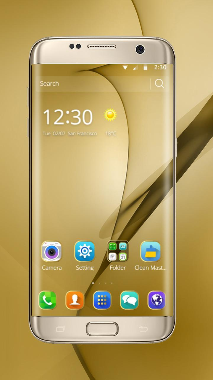 Gold Theme for Galaxy S8 Plus 5 تصوير الشاشة
