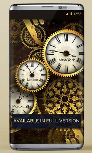 FREE Gold Clock Live Wallpaper 4 تصوير الشاشة