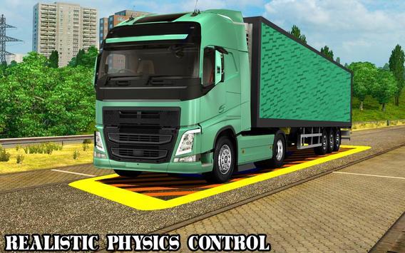 Speed Parking Truck Simulator :Truck Driving 2018 screenshot 1