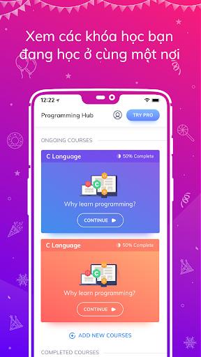 Programming Hub: Học viết mã screenshot 2