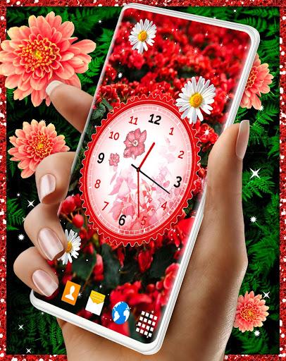 Flower Blossoms Clock 🌺 Spring 4K Live Wallpaper screenshot 3