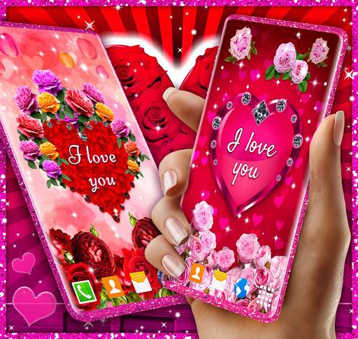 Diamond Hearts Live Wallpaper 💎 Love 4K Wallpaper 1 تصوير الشاشة