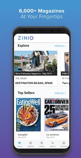 ZINIO - Magazine Newsstand 1 تصوير الشاشة