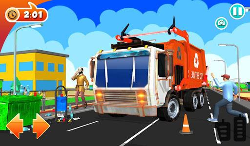 Urban Garbage Truck Driving - Waste Transporter screenshot 14