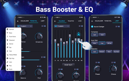Music player - 10 bands equalizer Audio player screenshot 3