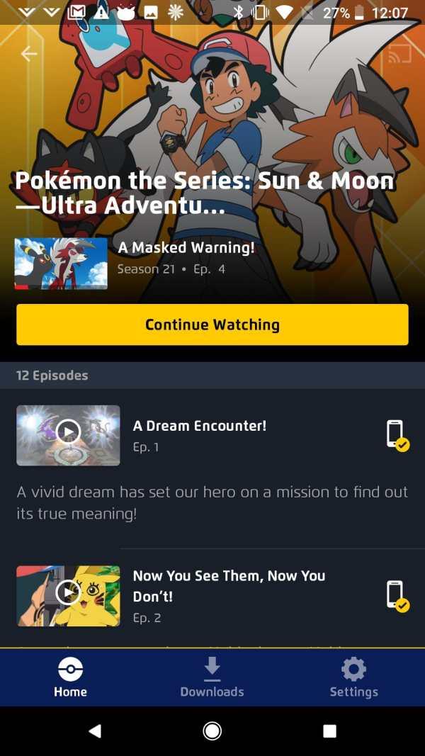 Pokémon TV screenshot 1