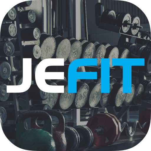 JEFIT Workout Tracker, Weight Lifting, Gym Log App أيقونة