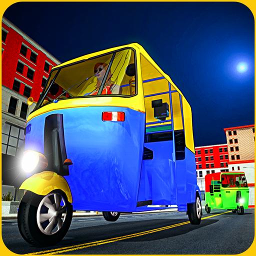 Tuk tuk Chingchi Rickshaw: City Rickshaw driver icon