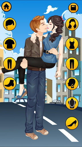 Kissing Dressup For Girls - Cute Couple Makeover screenshot 3