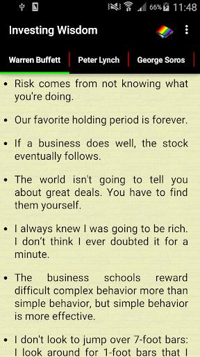 Investing Wisdom 1 تصوير الشاشة