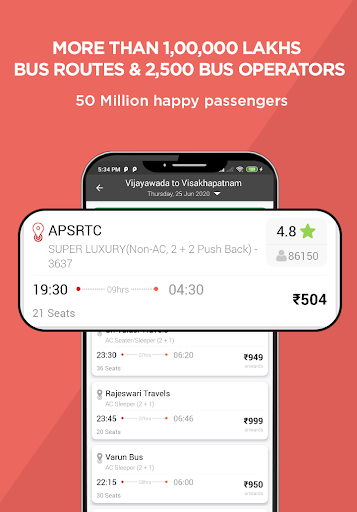 AbhiBus - Bus Booking and IRCTC Train Ticket App 2 تصوير الشاشة