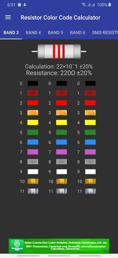 Resistor Color Code Calculator with SMD Resistor screenshot 1