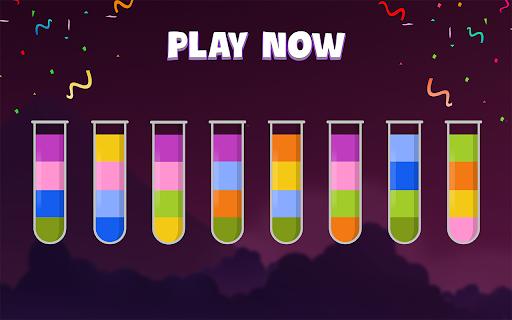 ソートウォーターパズル - 色分けゲーム screenshot 7
