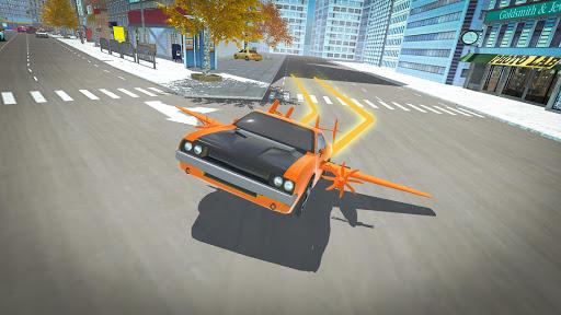 Real Light Flying Car Racing Simulator Games 2020 screenshot 7
