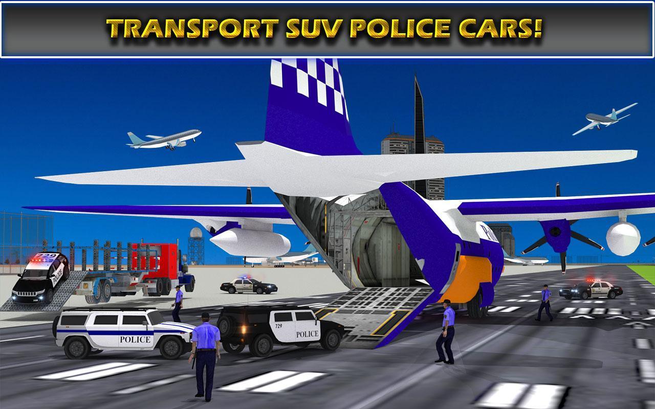 US Police Airplane Cop Dog Transporter Kids Games screenshot 12