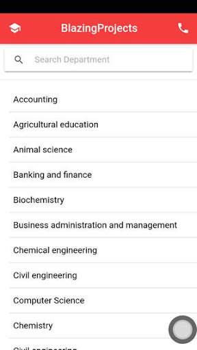 Project topics app - final year project topics app screenshot 1
