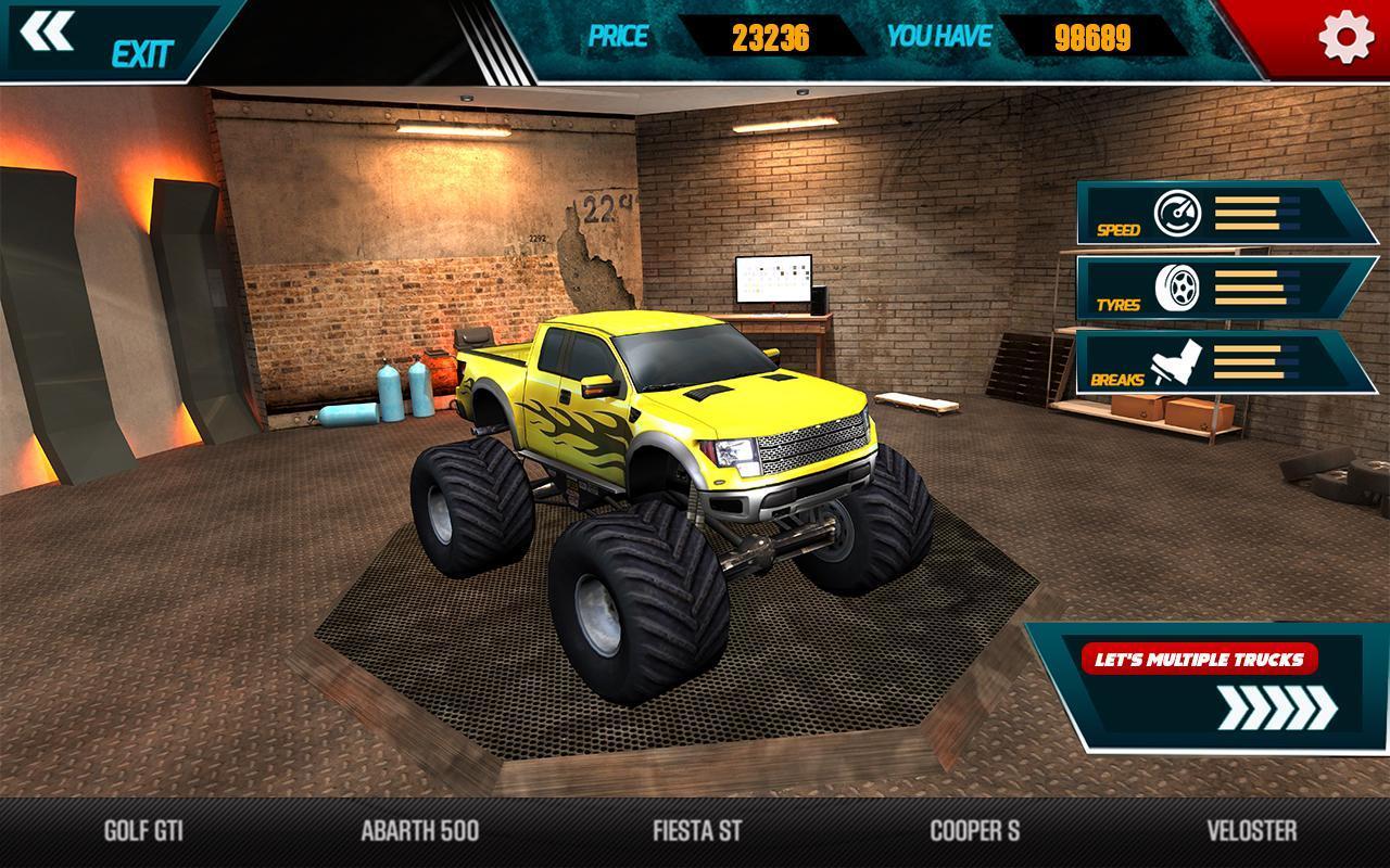 Monster Truck on Impossible Tracks screenshot 3