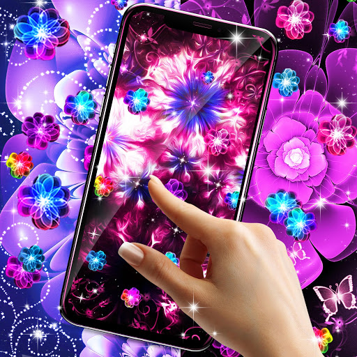Glowing flowers live wallpaper скриншот 6