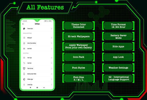 Circuit Launcher 2021 App lock, Hitech Wallpaper 8 تصوير الشاشة
