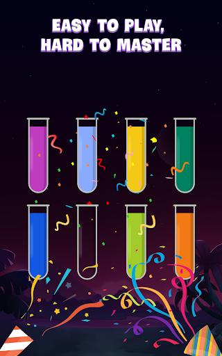 ソートウォーターパズル - 色分けゲーム screenshot 21