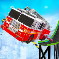 Firefighter Truck Transform Racing Ramp Stunt Game on 9Apps