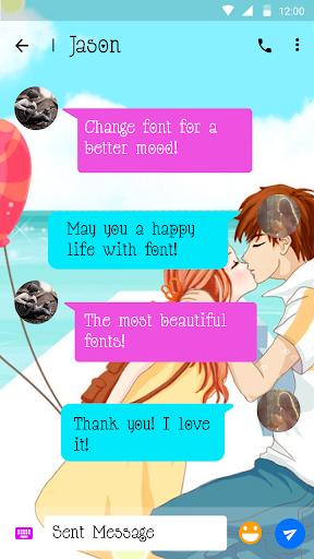 Kiss Font for FlipFont , Cool Fonts Text Free screenshot 2