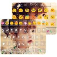 Cute Photo Emoji Keyboard Skin on 9Apps