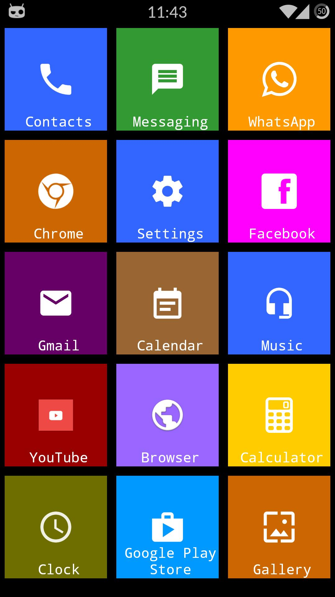 Metro Theme Launcher 2019 - WP Look screenshot 4