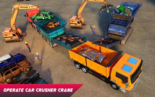 Car Crusher Crane Driver Dumper Truck Driving Game screenshot 12