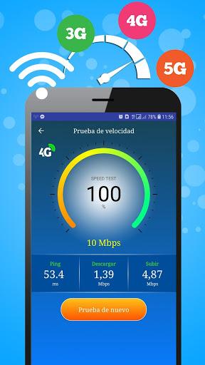 WiFi, 5G, 4G, 3G Speed Test -Speed Check - Cleaner screenshot 2