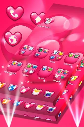 الحب موضوع قاذفة screenshot 1