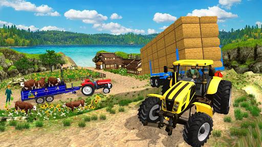 Real Tractor Trolley Cargo Farming Simulation Game screenshot 2