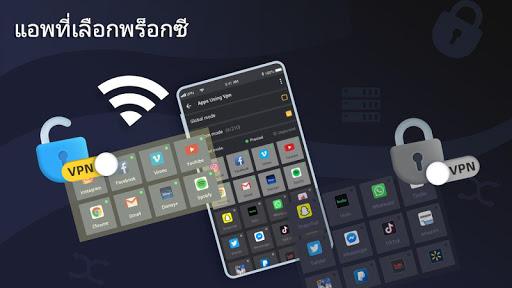 3X VPN - ท่องอย่างปลอดภัยเพิ่มแอปและไซต์ screenshot 5
