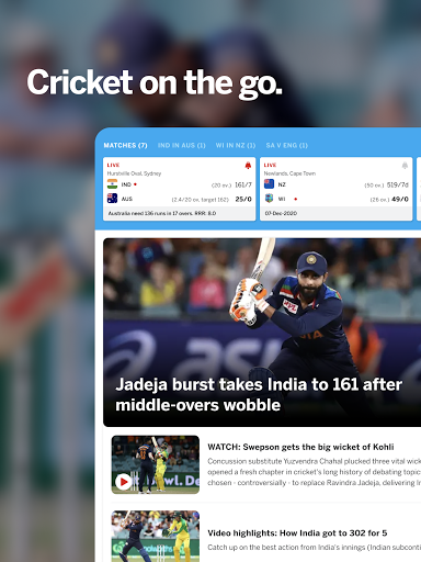 ESPNCricinfo - Live Cricket Scores, News & Videos screenshot 6