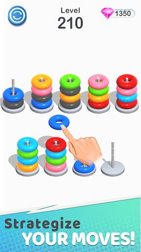Color Sort Puzzle: Color Hoop Stack Puzzle screenshot 4