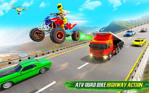 Light ATV Quad Bike Racing, Traffic Racing Games screenshot 15