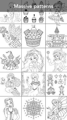 Princess coloring book screenshot 2