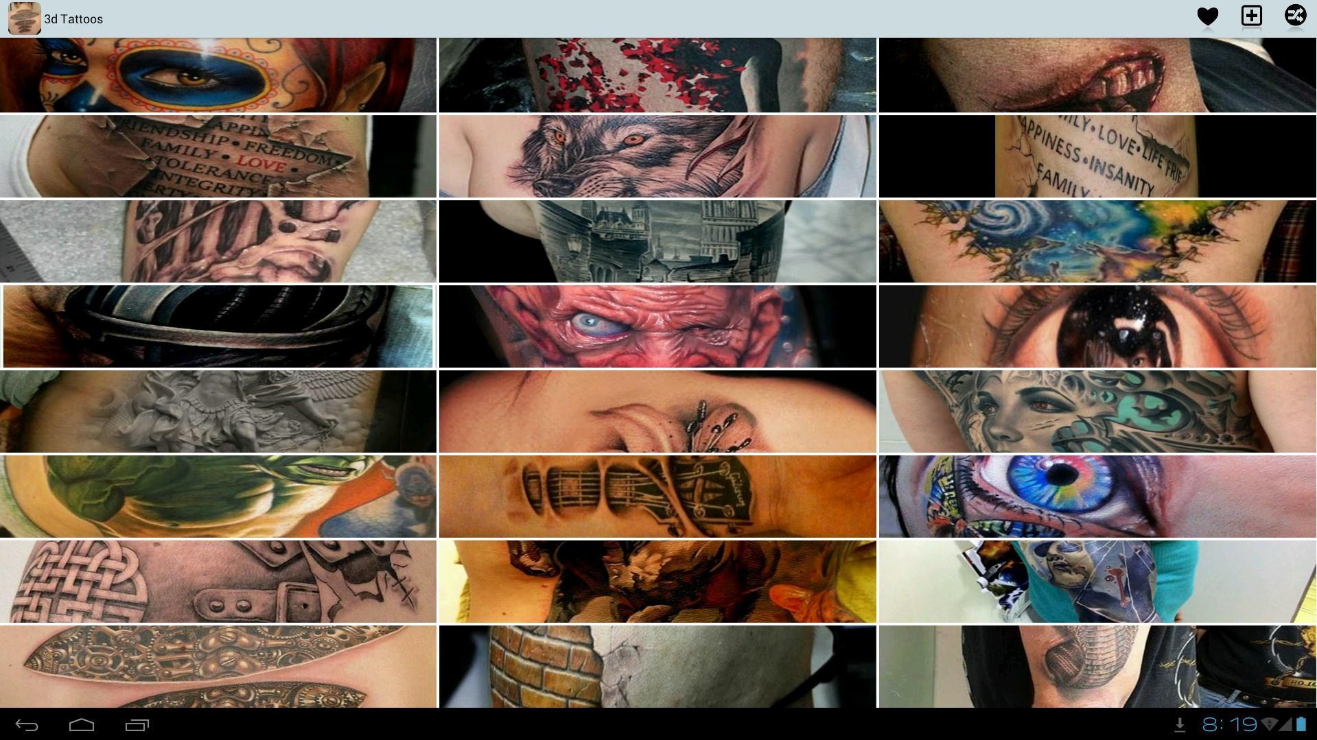 3d Tattoos Ideas 4 تصوير الشاشة
