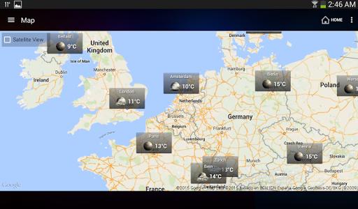 الطقس وويدجت الساعة لأندرويد - توقعات الأرصاد 12 تصوير الشاشة