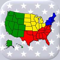 50 US States Map, Capitals & Flags - American Quiz on 9Apps