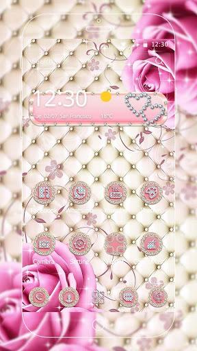 Pink Diamond Rose Theme screenshot 2