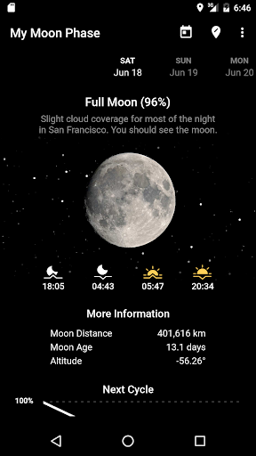 My Moon Phase - Lunar Calendar & Full Moon Phases screenshot 1
