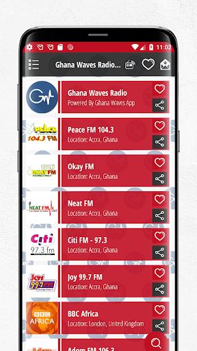 Ghana Waves Radio, TV Stations 3 تصوير الشاشة