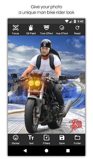 Man Bike Rider Photo Editor screenshot 7